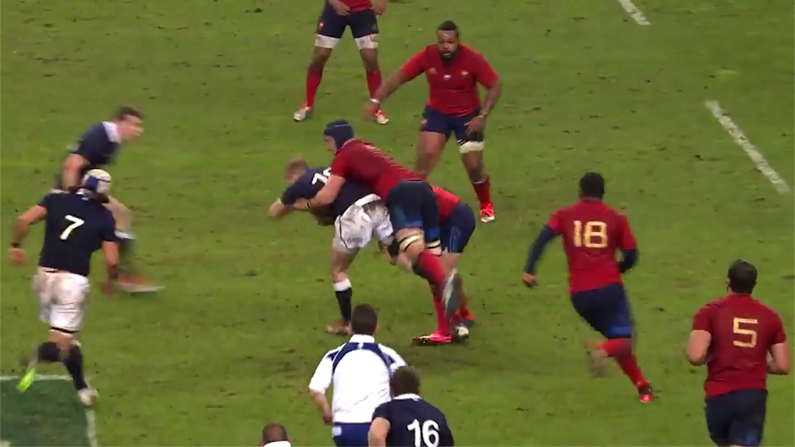 6 nations vid o finn russell d coup par la tenaille lopez le roux 6 nations 2015 rugby - Coupe des 6 nations rugby ...