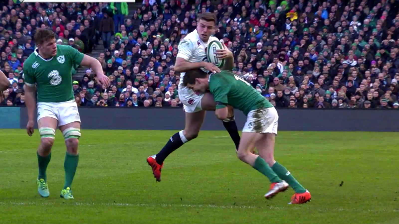 Tournoi des 6 nations l 39 norme plaquage de sexton sur ford 6 nations 2015 rugby rugbyrama - Rugby coupe des 6 nations ...