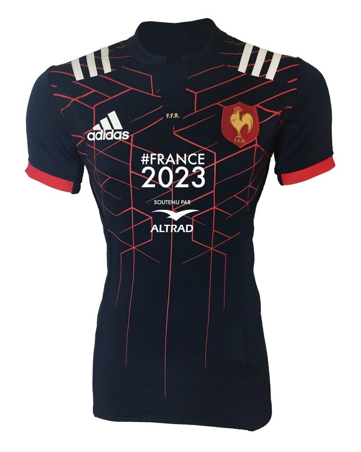 xv de france le nouveau maillot des bleus avec le logo altrad 6 nations 2017 rugby rugbyrama. Black Bedroom Furniture Sets. Home Design Ideas