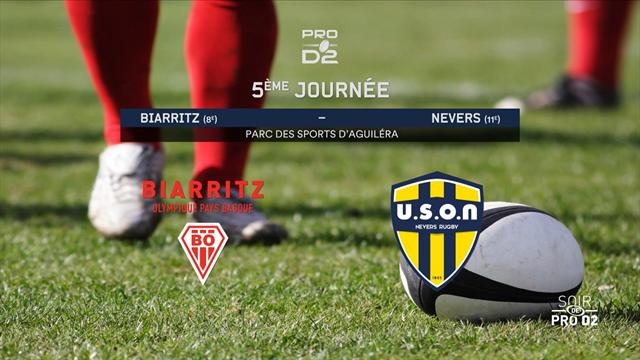 Biarritz - Nevers : Les temps forts