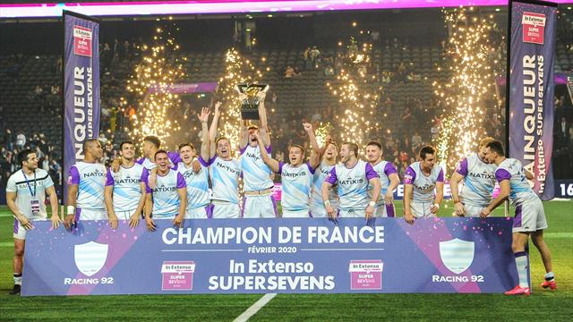 Le Racing 92 premier champion de l'In Extenso Supersevens dans son jardin